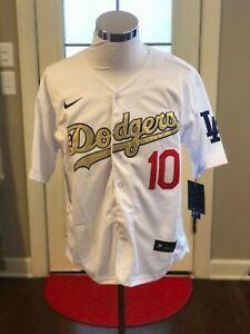 Los Angeles Dodgers #10 Justin Turner Gold World Series Champions Jersey
