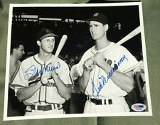 Ted Williams Stan Musial Signed Auto B&W 8x10 Photo Picture PSA/DNA LOA