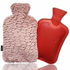 Cozy Hot Water Bottle with Cover Virgin Natural Rubber 2L Size & Ultra Soft L...