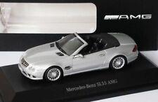 RARE MERCEDES SL 55 AMG V8 (R230) FACELIFT SILVER 1:43 MINICHAMPS (DEALER MODEL)