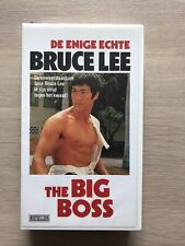 Bruce Lee The Big Boss VHS Video Tape English with dutch subs clamshell