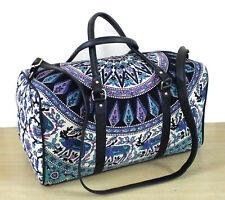 New Indian Cotton Sport Bag Duffel Handbag Luggage Bag Art With Adjustable Strap