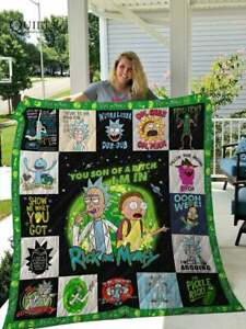 Rick And Morty Quilt Blanket