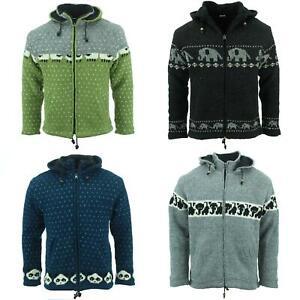 Chunky Wool Knit Animal Hoodie Coat Hoodie Warm Sweatshirt Knitted