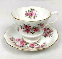 Vintage Royal Albert Tea Cup & Saucer Fine Bone China England Small Roses