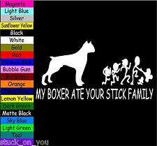 MY boxer ATE YOUR STICK FAMILY VINYL DECAL STICKER LAPTOP MACBOOK TABLET