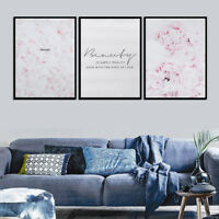 Feather Flower Pink Canvas Nordic Posters Floral Prints Wall Art Painting Decor