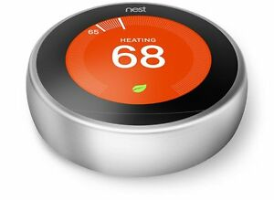 NEST Learning Thermostat 3rd Gen Stainless Steel T3007ES AU stock Google Nest