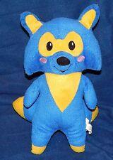 "12"" Namco Bandai Blue & Yellow ROCKET FOX Plush Doll 2013"