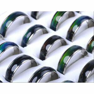 45pcs Wholesale Lots Horse Ring Lady/'s Fashion Change Color Mood Rings AH1032