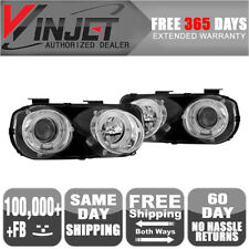 Fit 94-97 Acura Integra Halo Projector Head Lights Lamps Chrome Clear Headlights