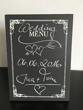 Butlers Shabby Tischtafel Tisch Tafel Schild  Menü Dekoration+Kreide HOCHZEIT