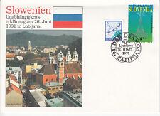 Slöwenien FDC Ersttagsbrief 1991 Unabhängigkeit Mi.Nr.1