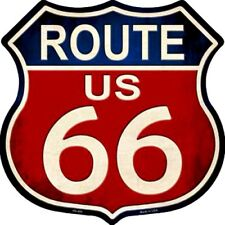 """Route 66 Classic 11"""" Highway Shield Metal Sign Novelty Retro Home Wall Decor"""