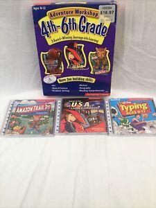 2001 The Learning Company 4th-6th Grade PC CD-ROM Carmen Sandiego Amazon Trail