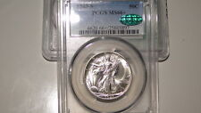 1943-S PCGS MS66+ CAC Walking Liberty Silver Half Dollar-GEM CAC!! Looks MS67!!