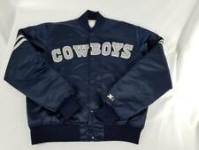 Mens Vintage Starter Large NFL Dallas Cowboys Puffer Snap On Navy Blue Jacket
