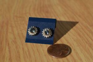 1.35ct Peacock Tanzanite / Zircon Earrings Platinum over Sterling Silver VVS