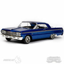Redcat Racing SixtyFour Fully Functional 1:10 Scale 1964 Chevrolet Impala Ready to Run Hopping Lowrider - Blue Classic Edition