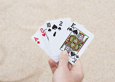 Areaware Solitaire Playing Classic Card Deck PVC Plastic Poker Cards SKPC