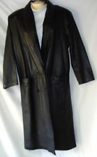 Women's Black Leather Coat Size Small