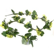 6.5ft Artificial Hop Garland - Decorative Plastic Hops Plant with Fabric Foliage