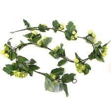 6.5ft artificielle hop garland-décoratif en plastique houblon plant avec tissu feuillage