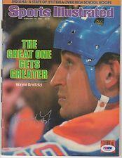 Wayne Gretzky Signed AUTOGRAPH Sports Illustrated SI Full Magazine PSA DNA
