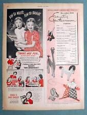 Original 1946 Rinso Non Celebrity Endorsement Ad OLSEN TWINS OF BOGATA, NJ