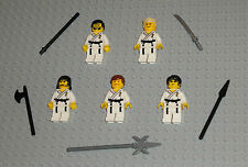 5 LEGO KARATE Minifigures Lot Toys Martial Arts Masters Self Defense Minifigs