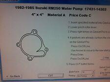 Suzuki RM250  Water pump cover Gasket 1982 1983 1984 1985