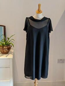 Stunning 2 piece Black Chiffon Dress Maternity Size 10 Elegant Evening Formal