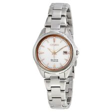 Citizen Eco-Drive Women's EW2410-54A Titanium Silver-Tone Bracelet 28mm Watch