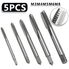 5pcs M3 M4 M5 M6 M8 HSS Machine Hand Screw Thread Tapper Metric Plug Tap Tool