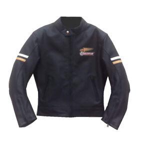 Handmade Men's Black Ducati Motorcycle Genuine Leather Jacket