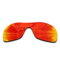 Polarized Blaze Red Mirrored Replacement Lenses for-Oakley Antix Sunglasses