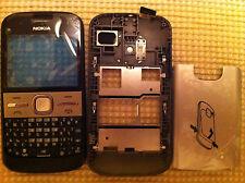 Cubierta Negra Para Nokia E5 E5 00 Pantalla Frontal Lente Trasero Batería Cubierta Teclado