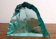 Vintage Kosta Boda Sweden Vicke Lindstrand Etched Deer Iceberg Sculpture