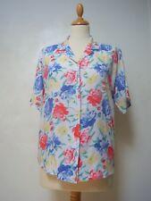 Vintage floral summer shirt 10 short sleeved, hawaii