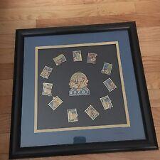 FRAMED SET Disney Epcot 15th Anniversary Pins Limited edition COA