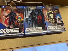 More details for gi joe classified set of 3 figures snake eyes / arctic storm shadow / cobra com