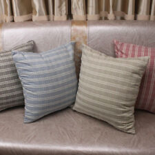 CURCYA Cotton Plaid Cushion Cover Square Pillow Case Cover for Sofa Chair Decor