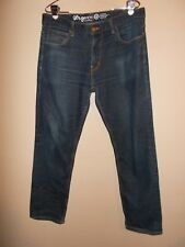 LR Geans Mens Size 38 True Straight Fit Blue Jeans Denim Kids Inseam 31""