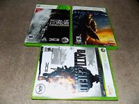 Medal of Honor Limited Edition,HALO 3 ,BATTLEFIELD BAD COMPANY 2 Xbox 360