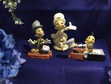 Lenox Disney Showcase Jiminy Cricket 24k Gold Figurine Plus 2 More Figurines