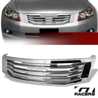 For 2008-2010 Accord 4 Door Chrome MU Style Front Hood Bumper Grill Grille Guard