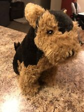 "Avanti Airedale Terrier Sitting Dog Plush! 12"" Stuffed Vintage Applause 1989"