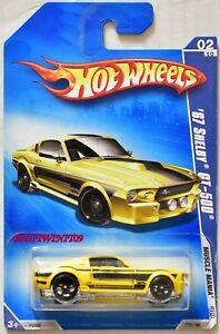 Hot Wheels 2009 Muscle Mania '67 Shelby GT-500 Jaune Avec / Défaut Avec +