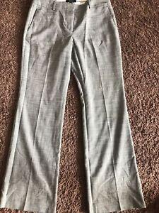 GUC Ann Taylor Gray Ann Fit Work Dress Pants Slacks Size 8P 8 Petite