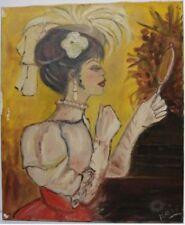Peintures du XXe siècle et contemporaines signés personnage en art déco